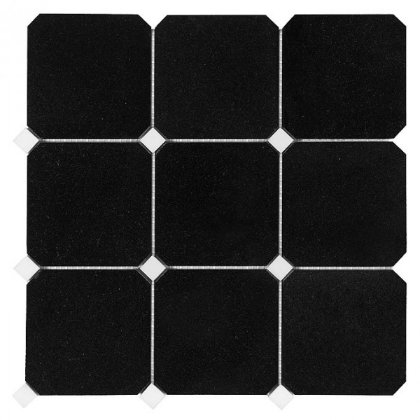 Granite Black OCTAGON 100 (plaster 30,5x30,5)