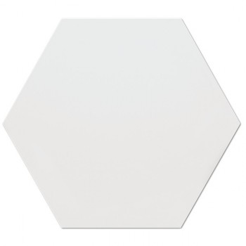 Hexagono Blanco Mate 17x15
