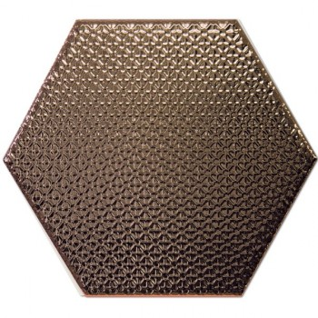 Dec Hexagono Bronce 17x15