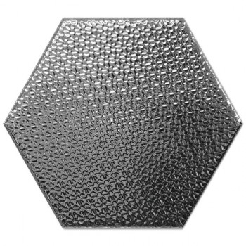 Dec Hexagono Plata 17x15