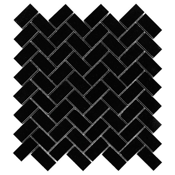 Pure Black HERRINGBONE 48 (plaster 30,5x30,5)