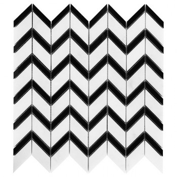Pure White CHEVRON mix (plaster 31x30,5)
