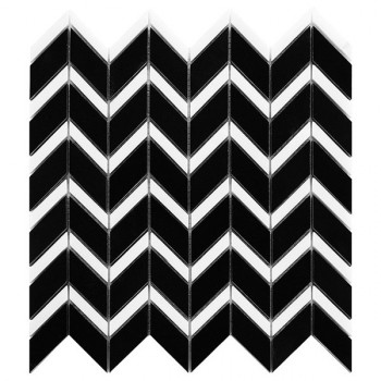 Pure Black CHEVRON mix (plaster 31x30,5)