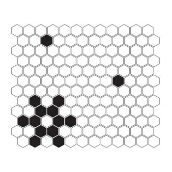 Mini HEXAGON B&W Snow 30x26 cm