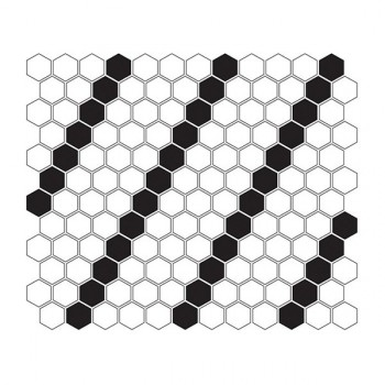 Mini HEXAGON B&W Lean 30x26 cm