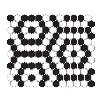 Mini HEXAGON B&W Nano 30x26 cm