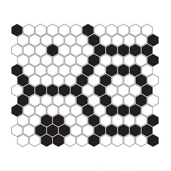 Mini HEXAGON B&W Bee 30x26 cm