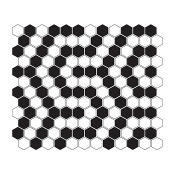 Mini HEXAGON B&W Coral 30x26 cm