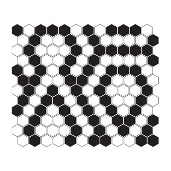 Mini HEXAGON B&W Lace 30x26 cm