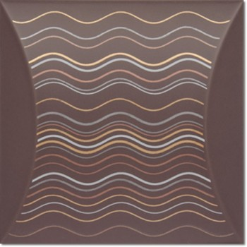 Decor Bent Dune Chocolate 15x15
