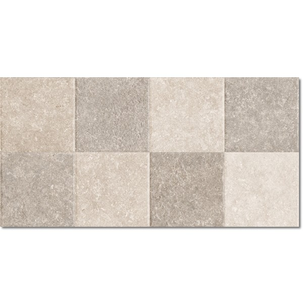 Light Stone Mosaic Warm Rett. 25x50