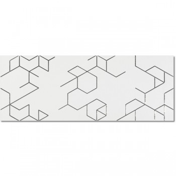 Decor Polygon Blanco 25x65