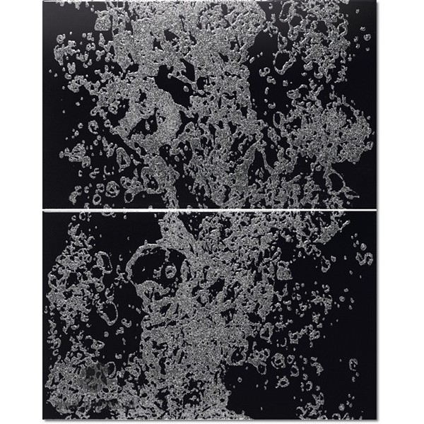 Decor Set(2) Falls Black 25x40