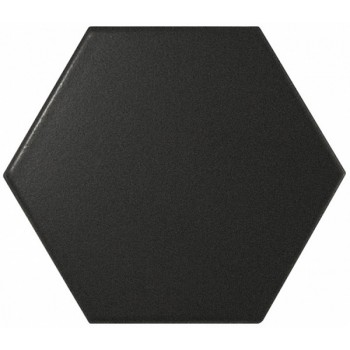 Scale Hexagon Black Matt 12,4x10,7