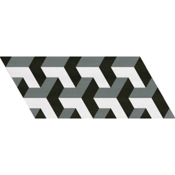 Chevron Patchwork B&W Right 9x20,5