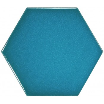 Scale Hexagon Electric Blue 12,4x10,7