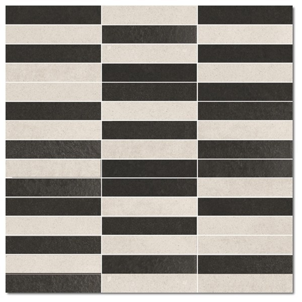 VIP Mix Black and White Lappato 30x30
