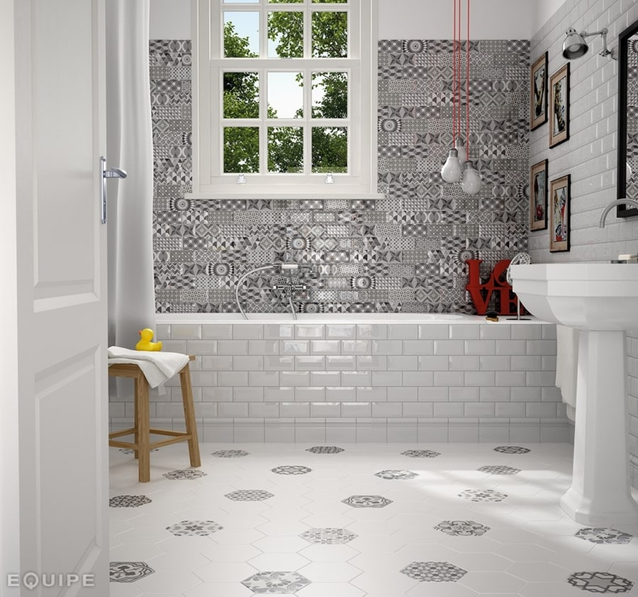 Hexatile Blanco Mate 17,5x20
