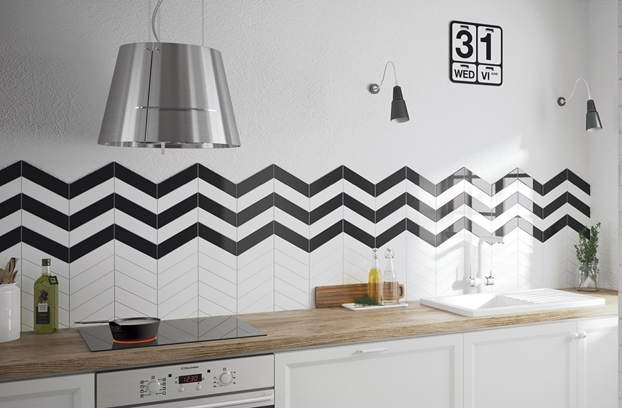 Chevron Wall Black Right 18,6x5,2