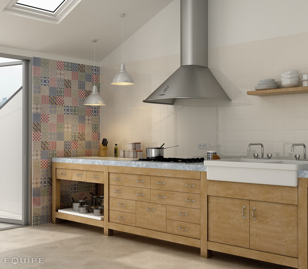 Kitchen Tiles Blue Colour